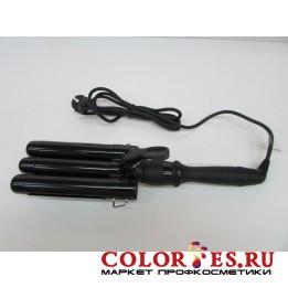 Плойка ZX тройная для завивки волос, 80 Вт, терморегулятор, LСD-дисплей, 25-22-25 mm ZX2522(К.)