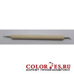 Дотс двухсторонний для дизайна ногтей (деревянная ручка) (К.) (026463)