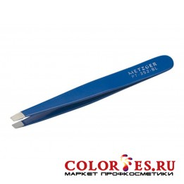 Пинцет METZGER PT-352-BL Скошенный синий