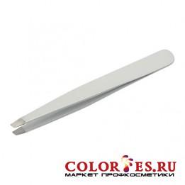 Пинцет METZGER PT-354-JY Скошенный серый