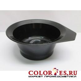 Чаша для окрашивания с ручкой, с противоскользящей резинкой на дне, черная 300 мл (К.) (061877)