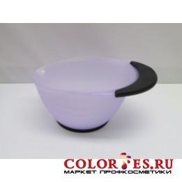 Чаша для окрашивания с ручкой, с противоскользящей резин. на дне и ручке, сирен 360 мл (К.) (061853)