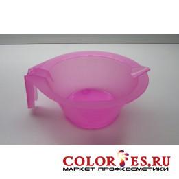 Чаша для окрашивания с ручкой и носиком, ярко-розовая 300 мл (К.) (031023)