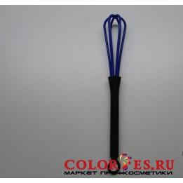 Венчик для смешивания краски, пластиковый, синий (К.) (032365)