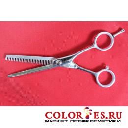 Ножницы PRO FEEL филировочные односторонние, 30 зубцов (хром.полир.ручки) LBA-530B (К.) (052455)