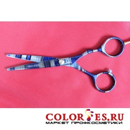 Ножницы PRO FEEL парикмахерские 5,5, эргон.ручка (цветные полосы) GIF03-55W(5B0910), (052530)
