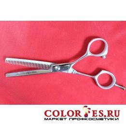 Ножницы PRO FEEL филировочные односторонние, 30 зубцов (хром.полир.ручки) LFK-530G (К.) (052431)